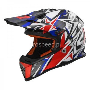 Kask motocyklowy LS2 MX437 FAST STRONG W/BLUE RED