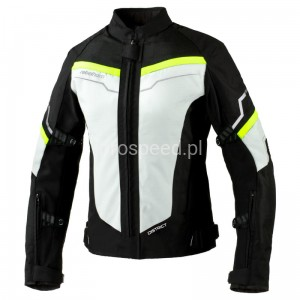 Kurtka Motocyklowa Tekstylna REBELHORN DISTRICT LADY ICE/BLACK/FLUO YELLOW